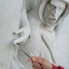guild architectural restoration - figurative stone carving