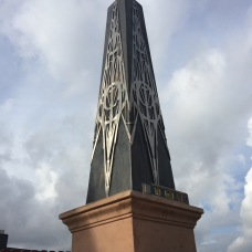 Bespoke obelisk in bronze