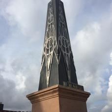 Bespoke obelisk in bronze