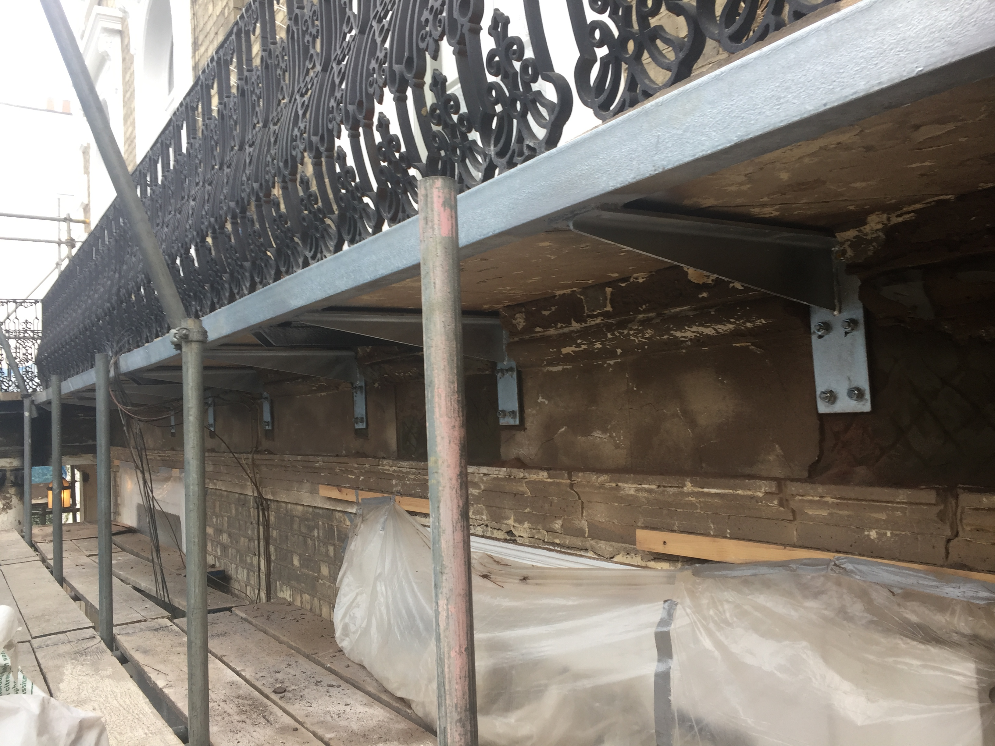 Guild Architectural Restoration   New Galvanised Steel Balcony Supports