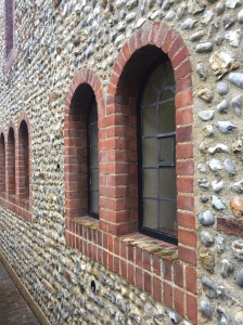 Flint work and lime mortar