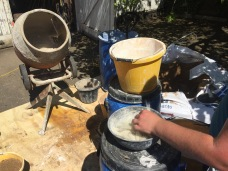 Adding goat hair to lime mortar